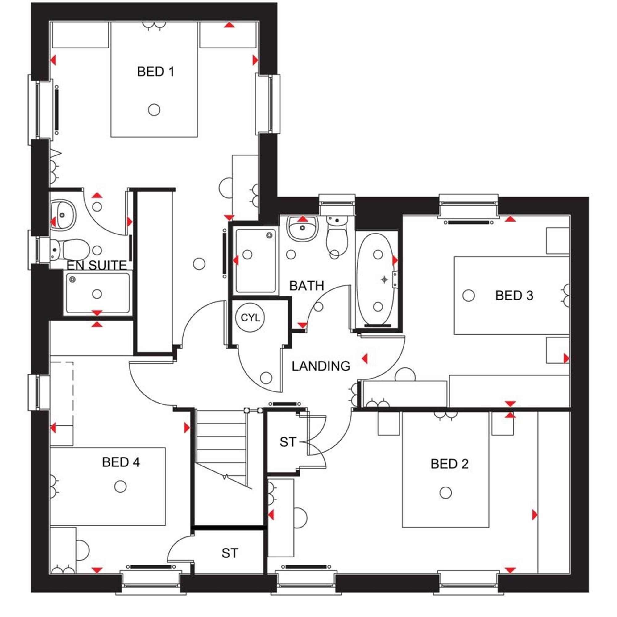 Wick Homes Floor Plans David Wilson Homes Moorcroft Floor Plan