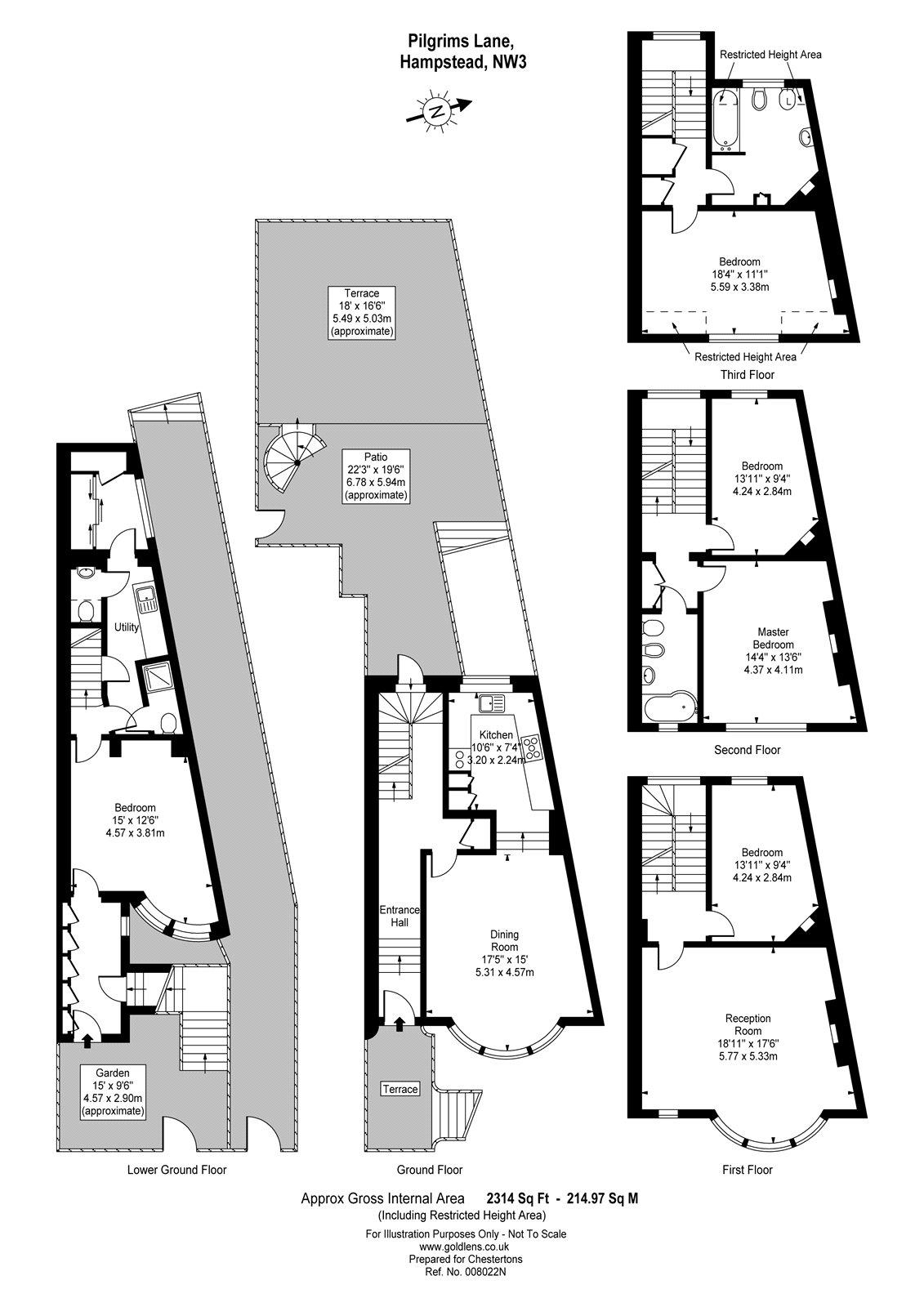 Pilgrims Lane Hampstead London Nw3 5 Bedroom Semi