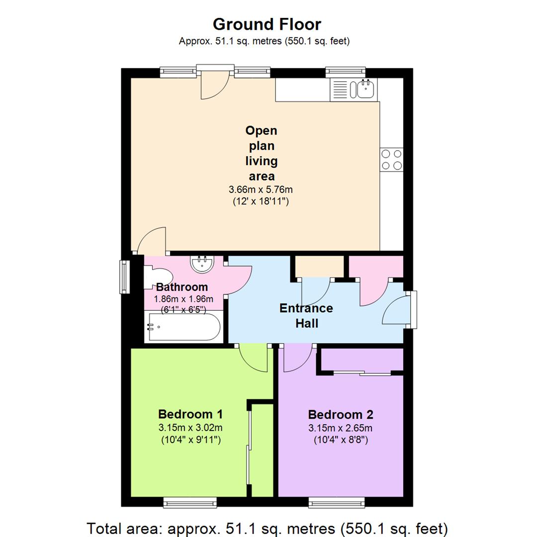 Carlton Hill Carlton Nottingham Ng4 2 Bedroom Flat To