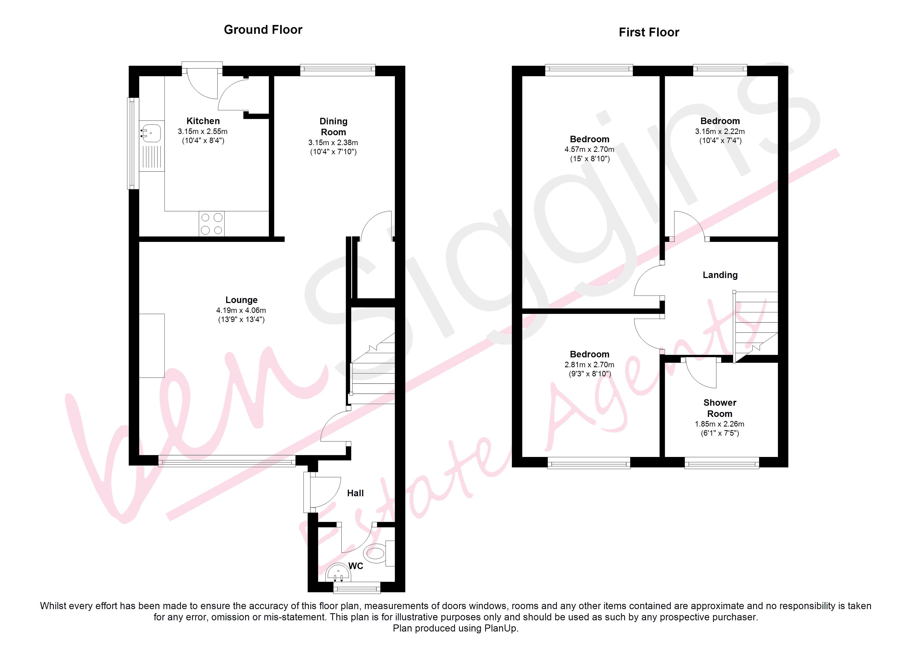 Marlborough way kennington ashford tn24 3 bedroom for Marlborough house floor plan