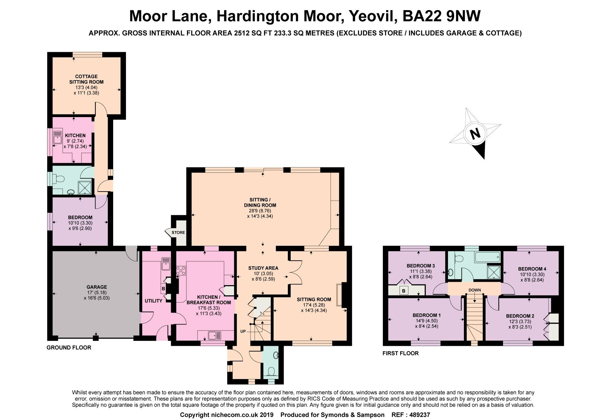 4 Bedrooms Detached house for sale in Moor Lane, Hardington Moor, Yeovil, Somerset BA22