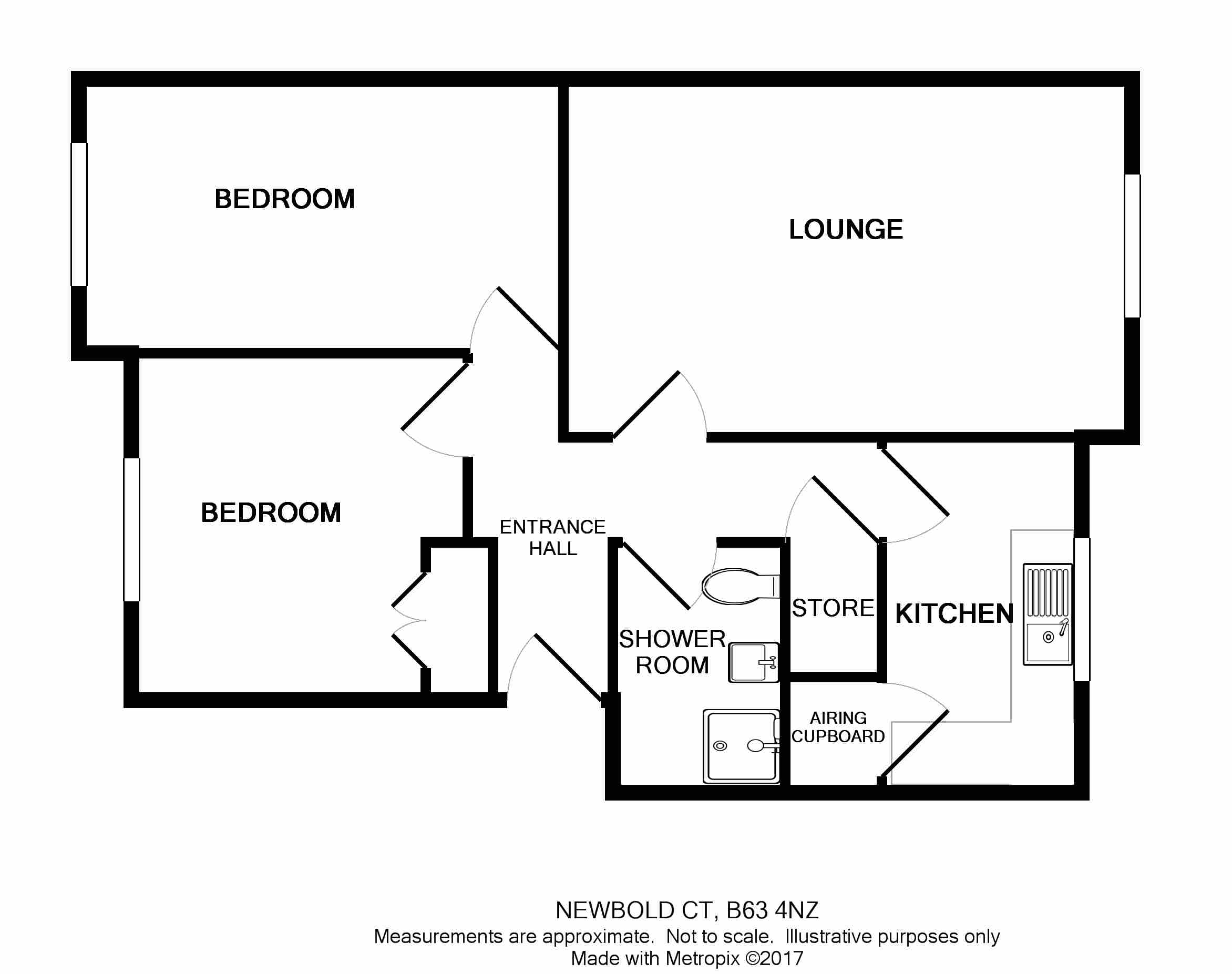 Blackberry Lane Halesowen B63 2 Bedroom Flat For Sale