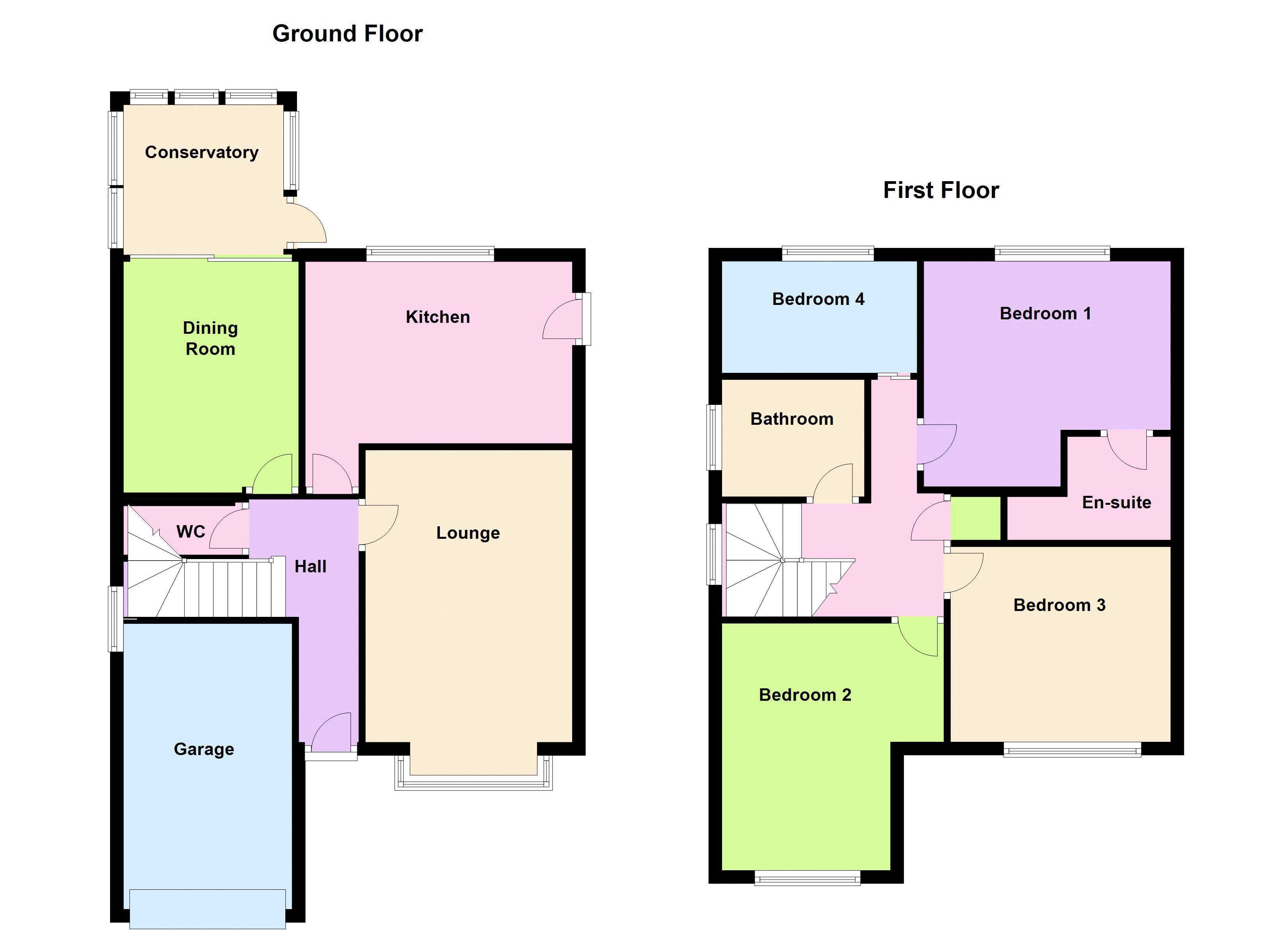 Shop Checkolite International 4 Light Ashfield Rustic: Grendon Way, Sutton-In-Ashfield NG17, 4 Bedroom Detached