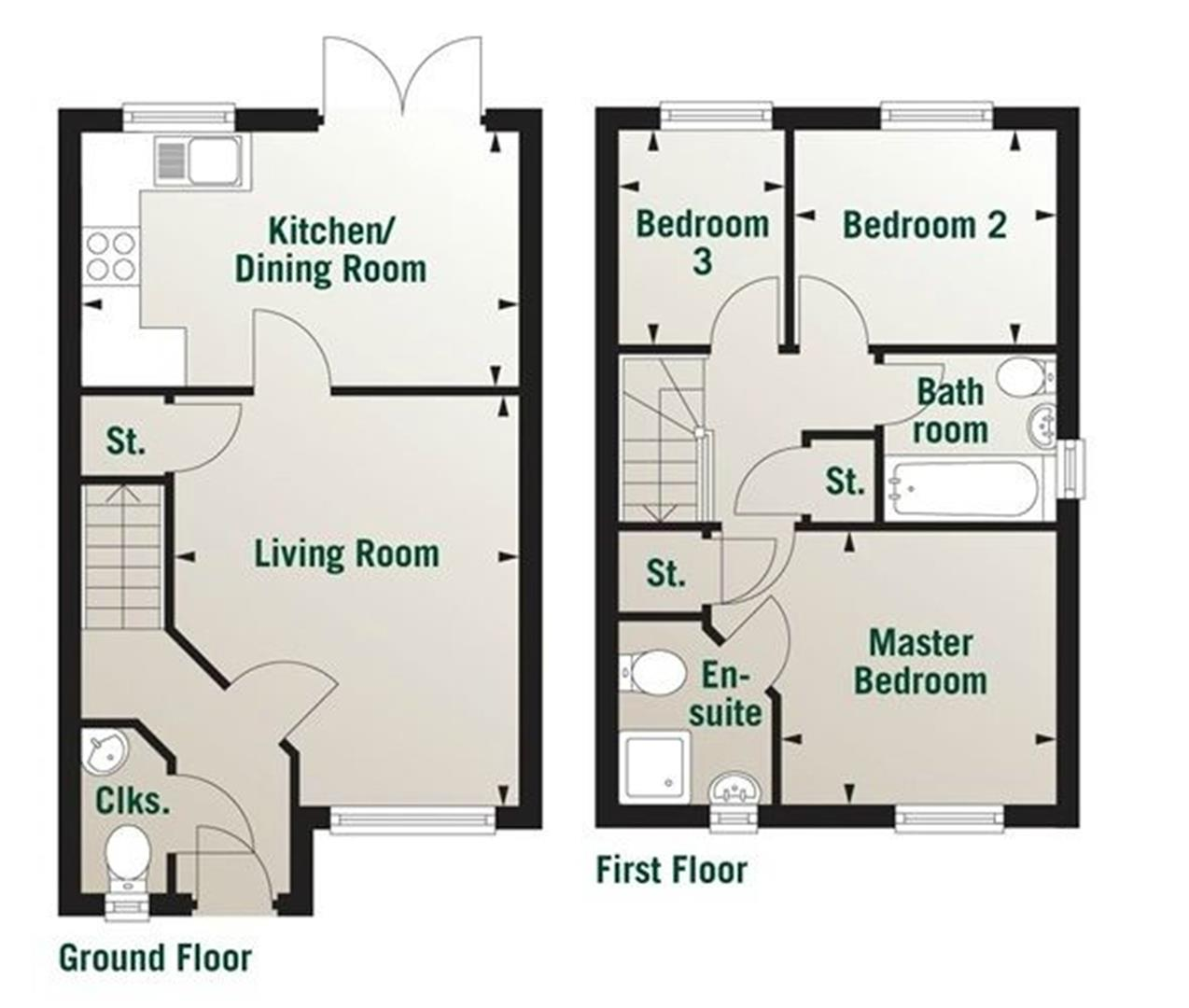 3 bedroom semi detached house for sale 42399520 for Semi detached house plans