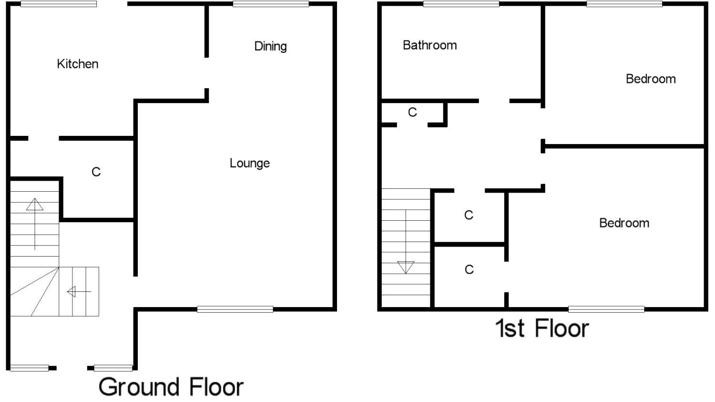 Millburn Street, Falkirk FK2, 2 bedroom end terrace house ...