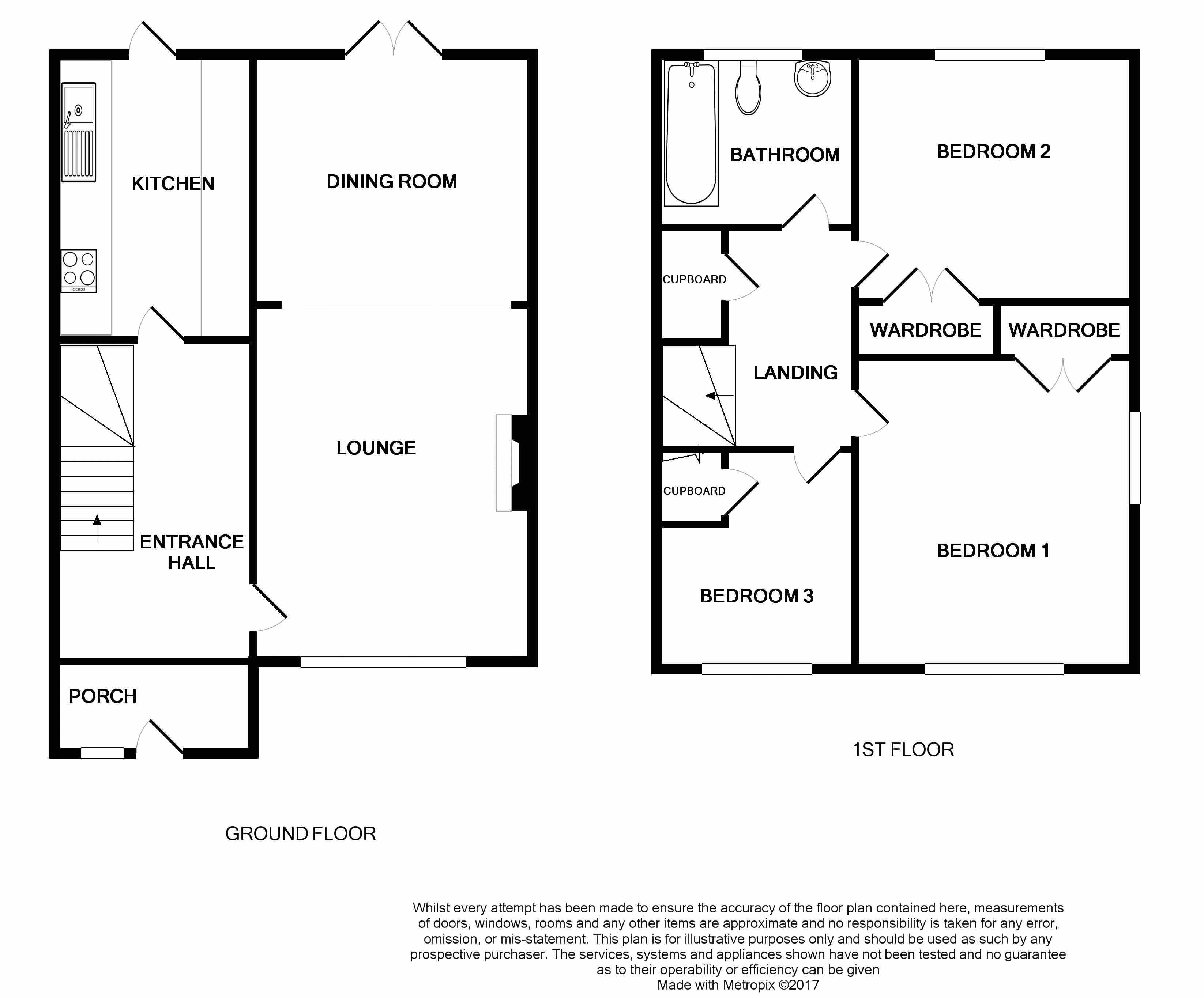 Marlborough close waterlooville po7 3 bedroom end for Marlborough house floor plan