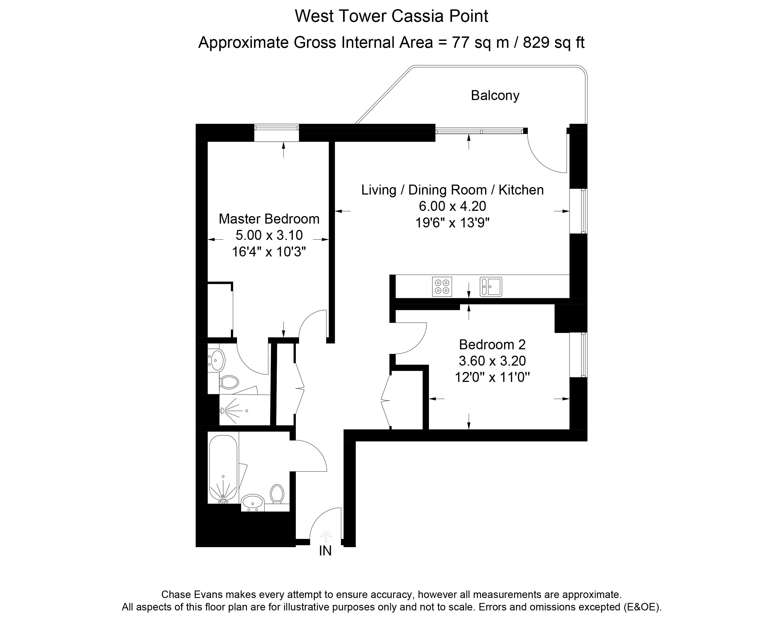 Stratford Homes Floor Plans: Cassia Point, Glasshouse Gardens, Stratford E20, 2 Bedroom