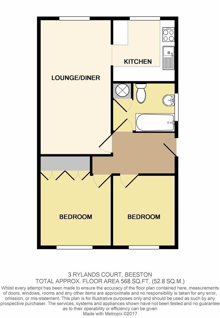 Rylands court barton street beeston ng9 2 bedroom flat for sale 43293197 primelocation for Food bar beeston