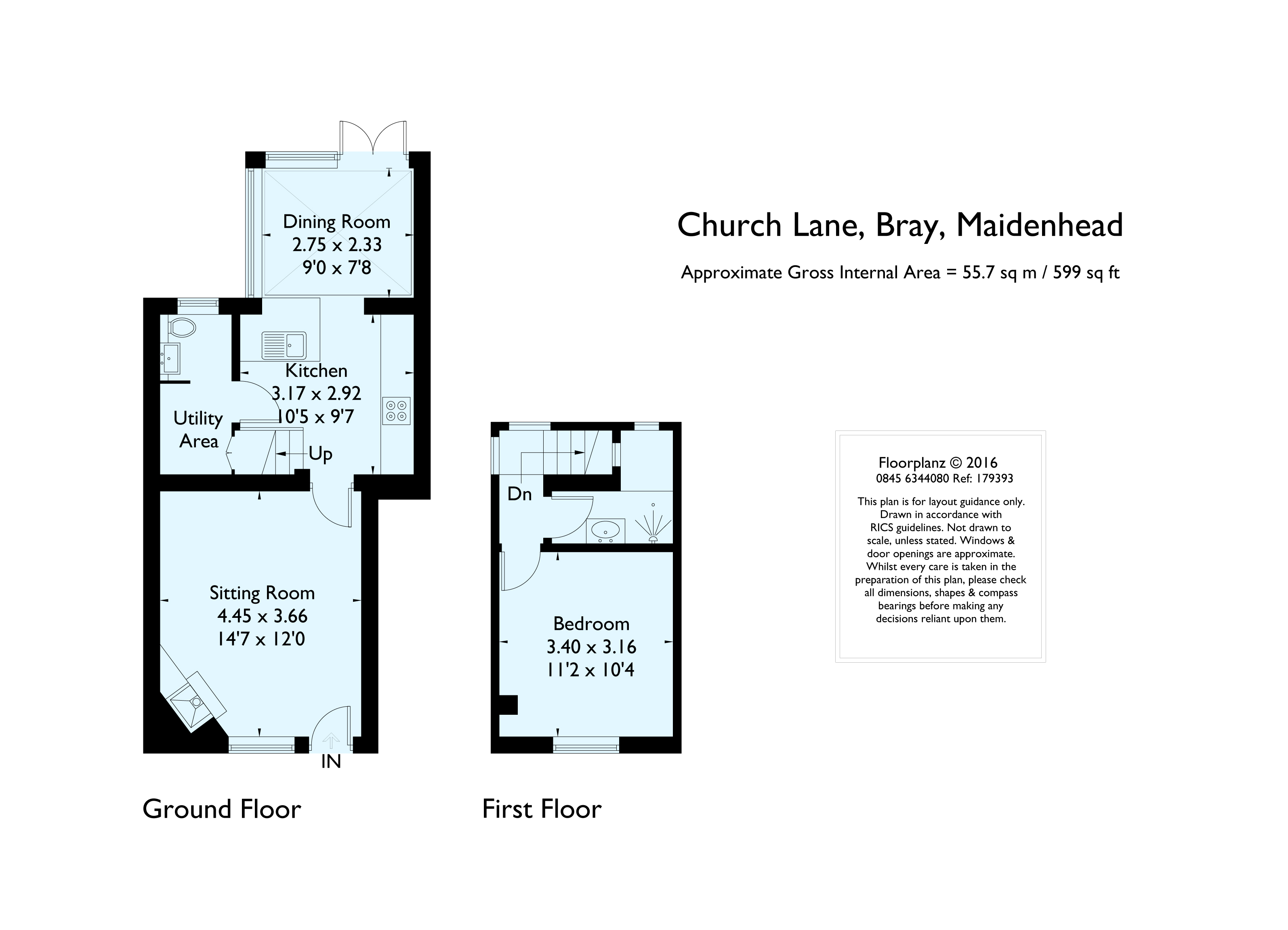 Church Lane Bray Maidenhead Sl6 1 Bedroom Cottage To