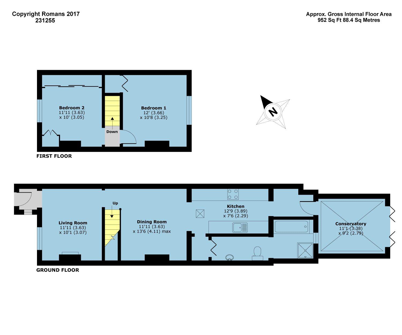 Kings Terrace Sutton Lane Slough Sl3 2 Bedroom Terraced