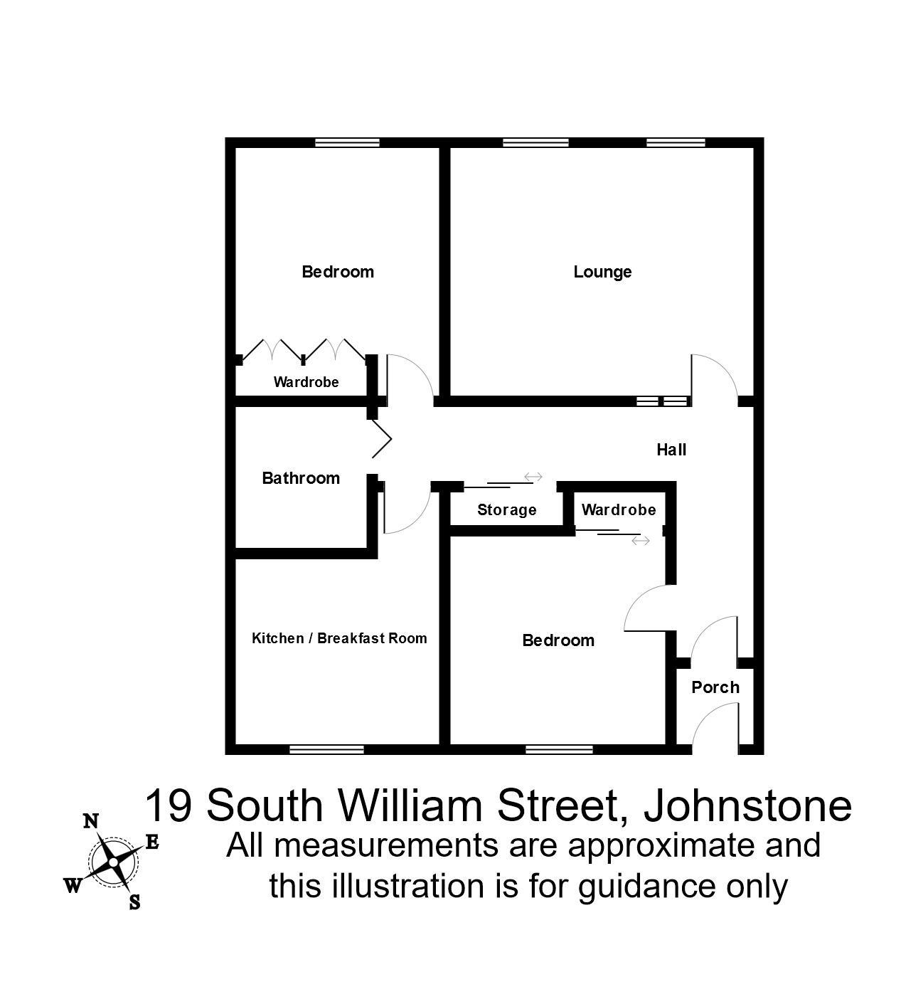 2 Bedrooms Flat to rent in South William Street, Johnstone PA5