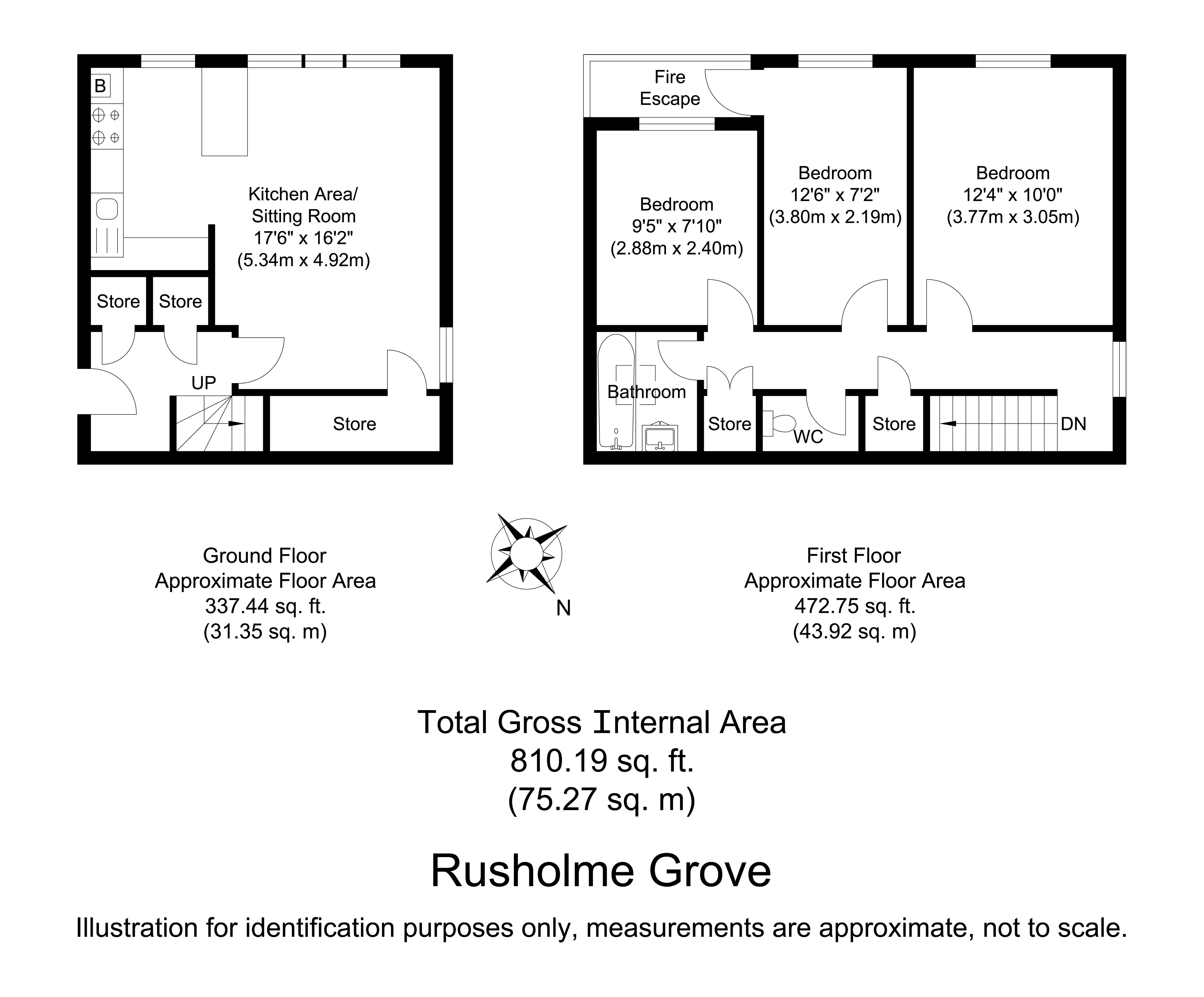 Rusholme Grove Crystal Palace Se19 3 Bedroom Maisonette