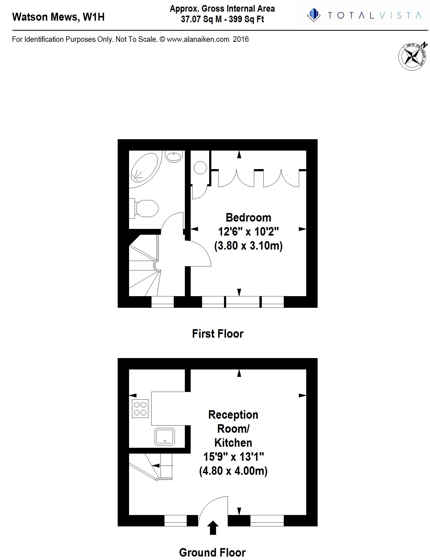 1 Bedrooms Mews house for sale in Watson Mews, London W1U
