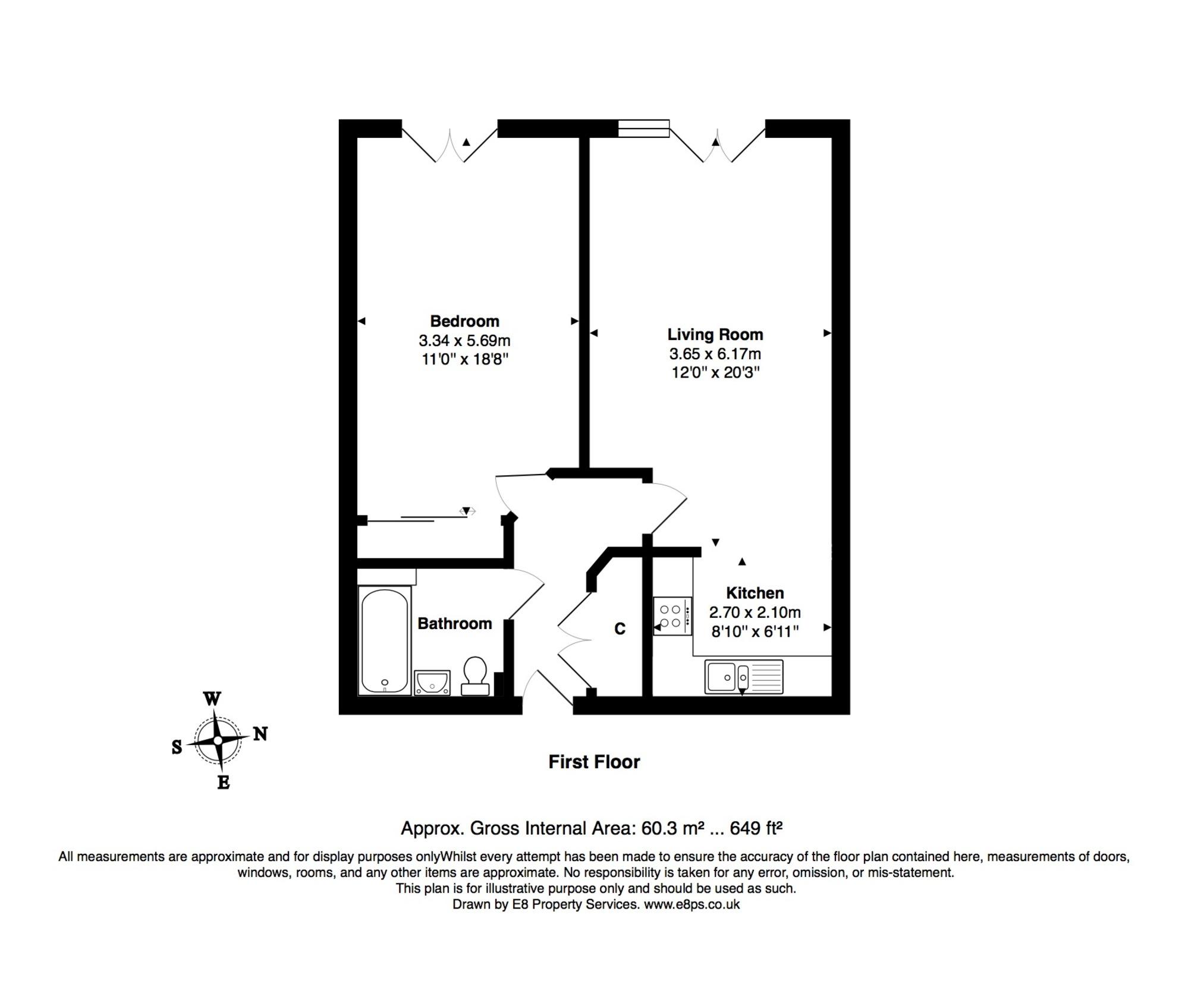Marriotts Walk, Witney OX28, 1 bedroom flat to rent