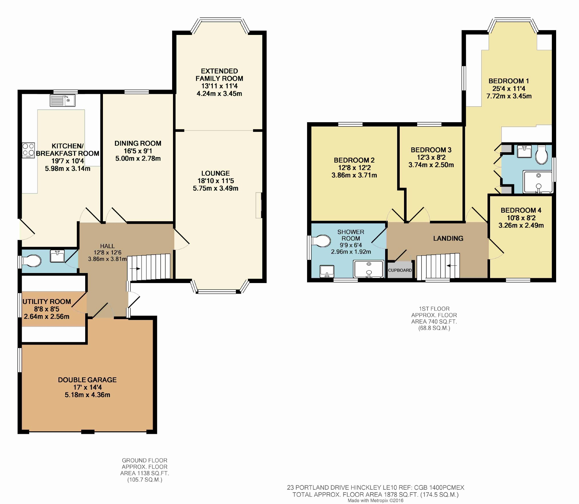 4 bed detached house for sale in portland drive hinckley le10
