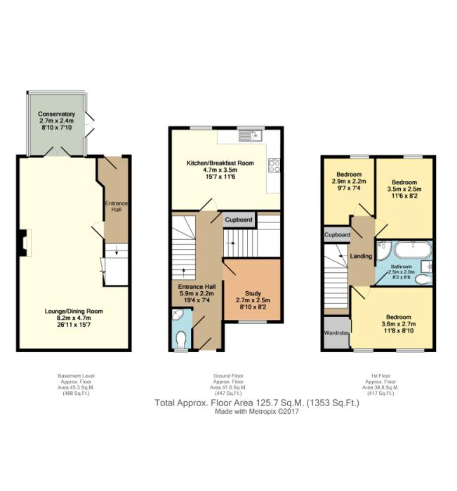 Raynald road sheffield south yorkshire s2 3 bedroom for Sheffield floor plan