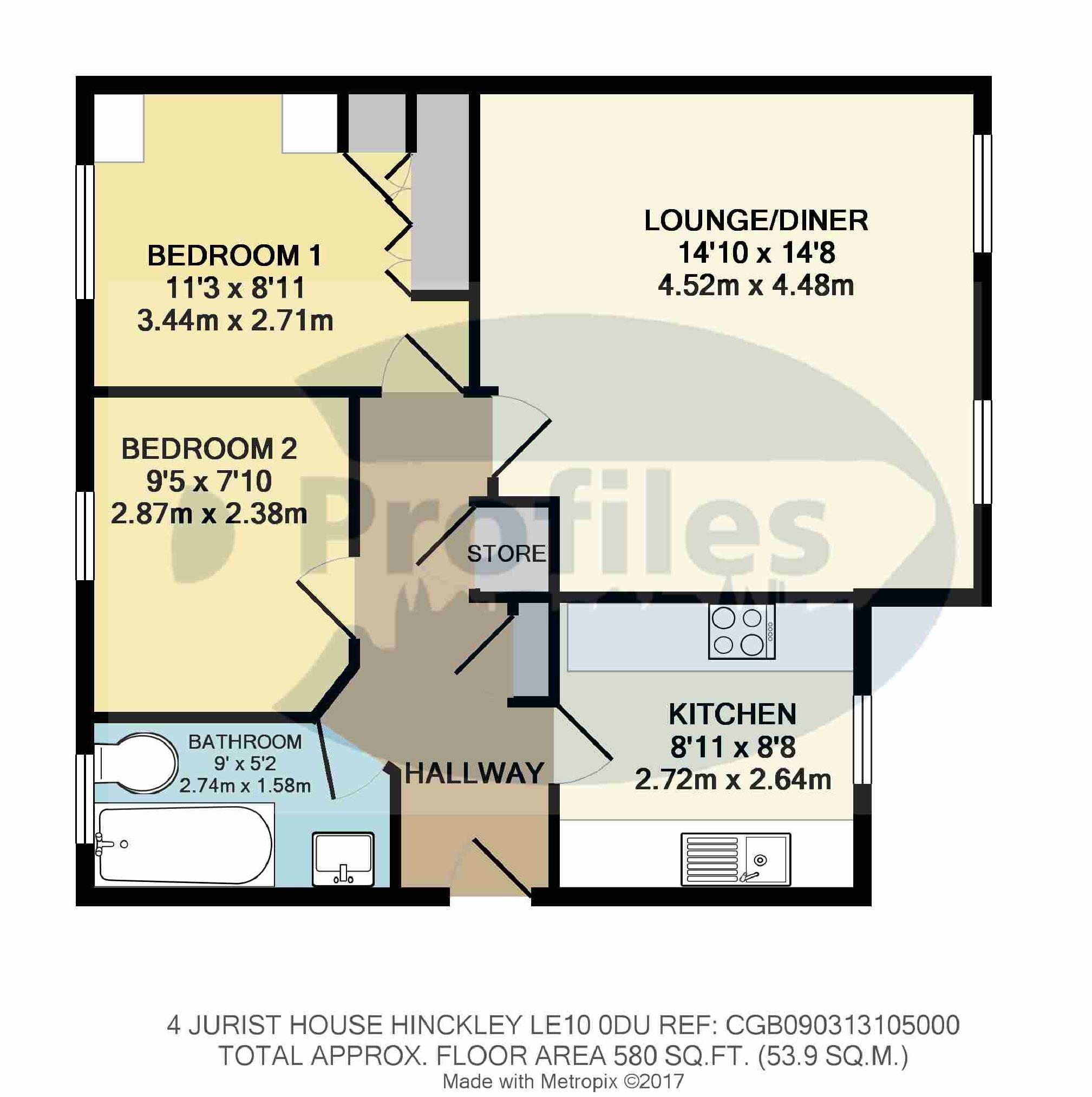 2 bed flat for sale in upper bond street hinckley le10