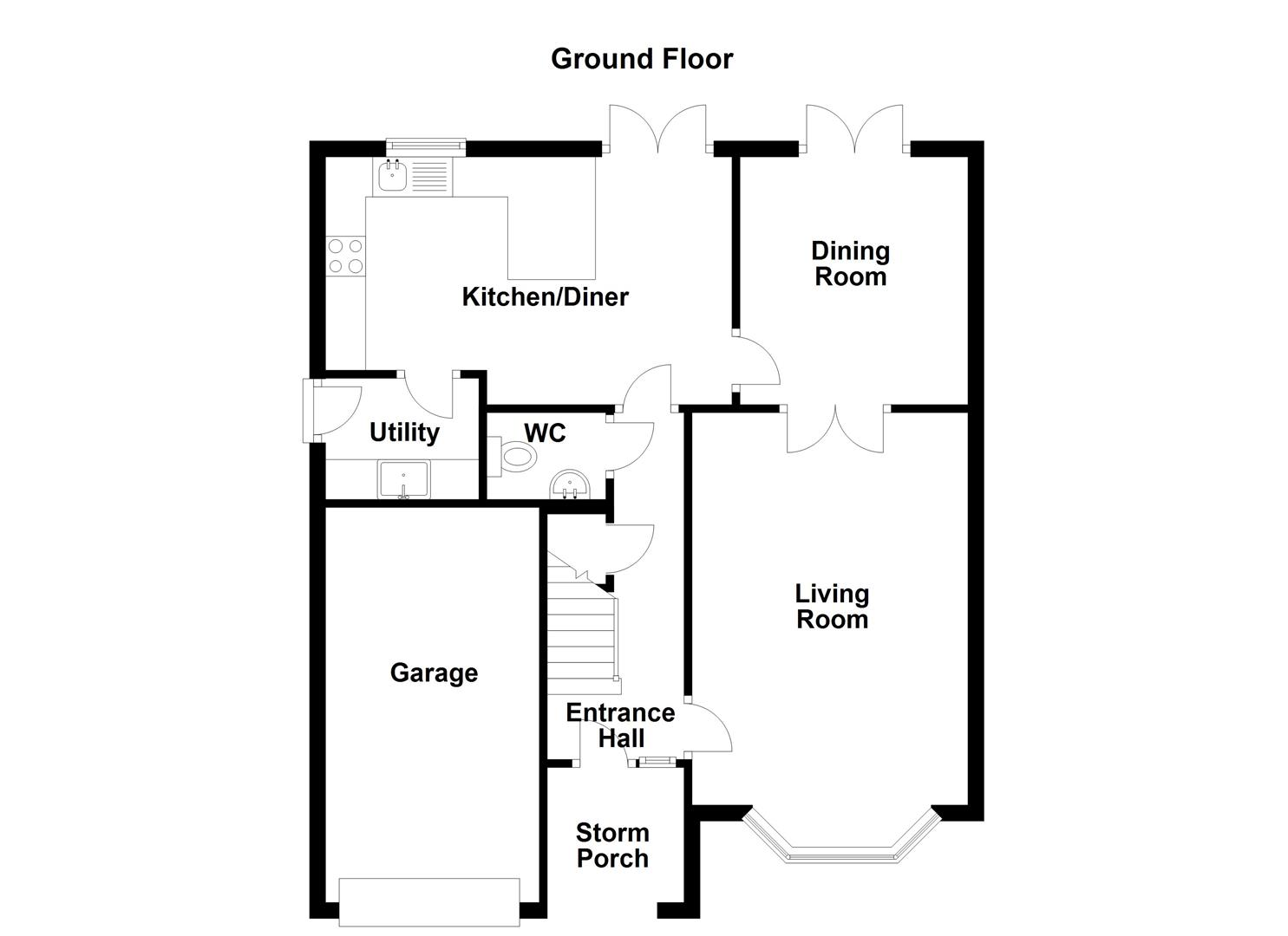 4 Bed Detached House For Sale In Hollymount Retford Dn22 Zoopla Storm Detector Circuit Floorplan