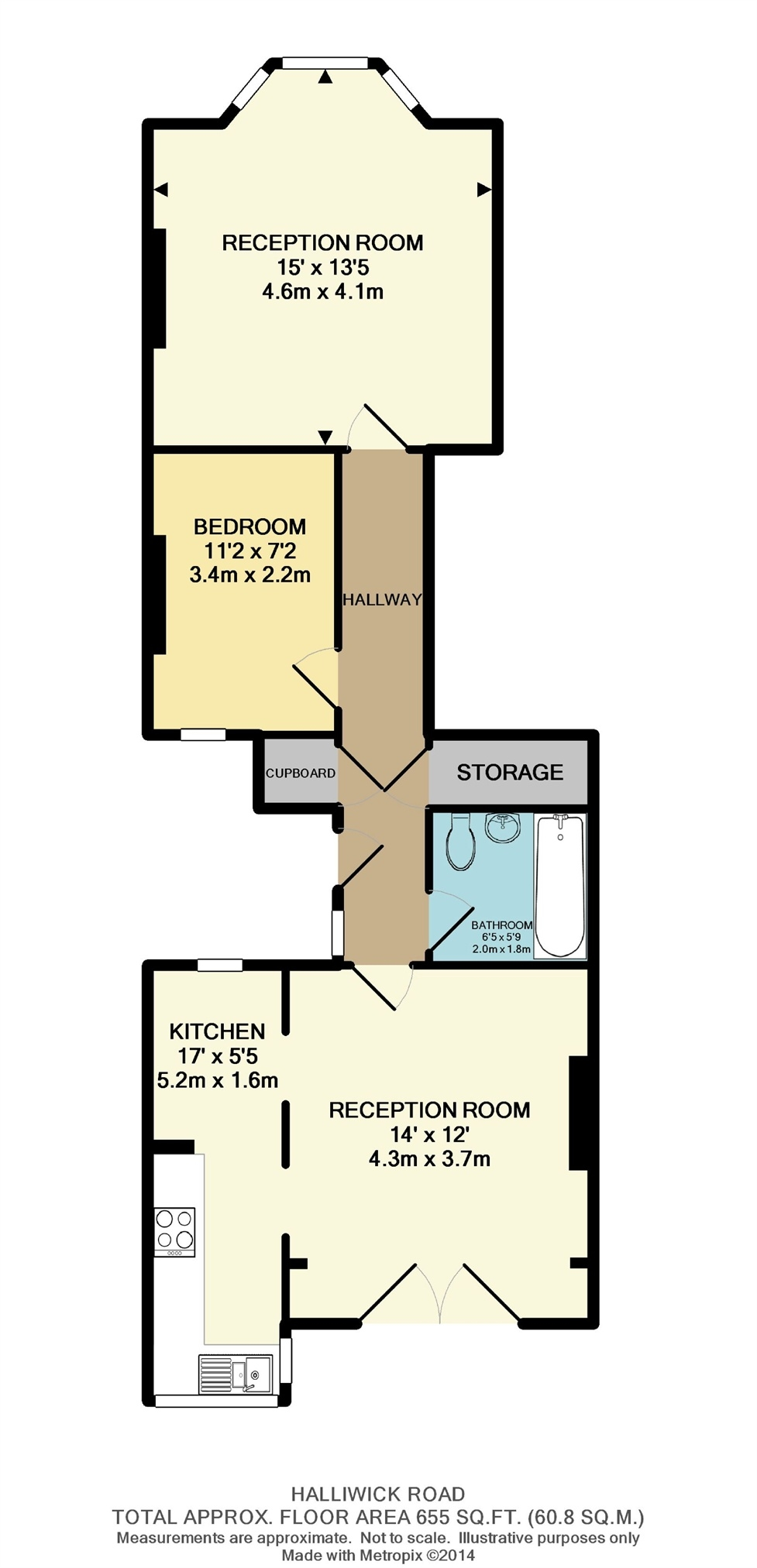 Halliwick Road Muswell Hill London N10 2 Bedroom Flat