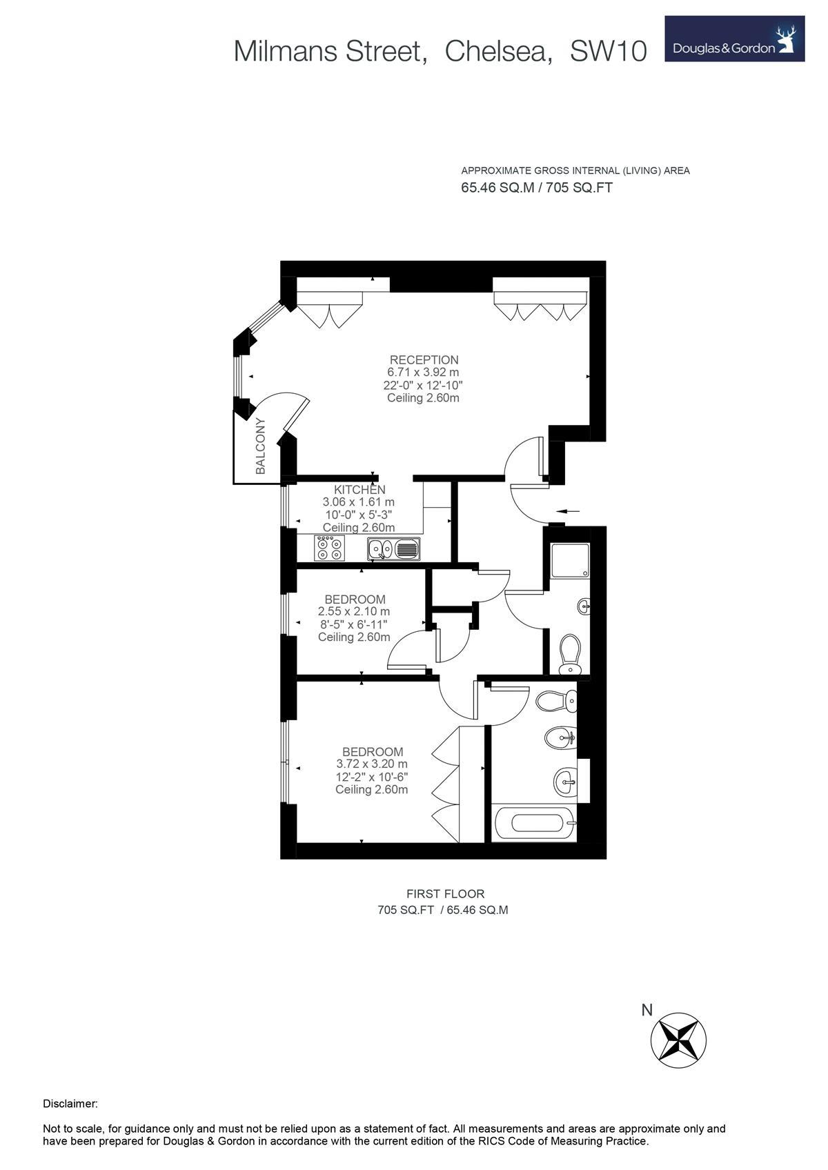2 Bedrooms Flat for sale in Milmans Street, London SW10