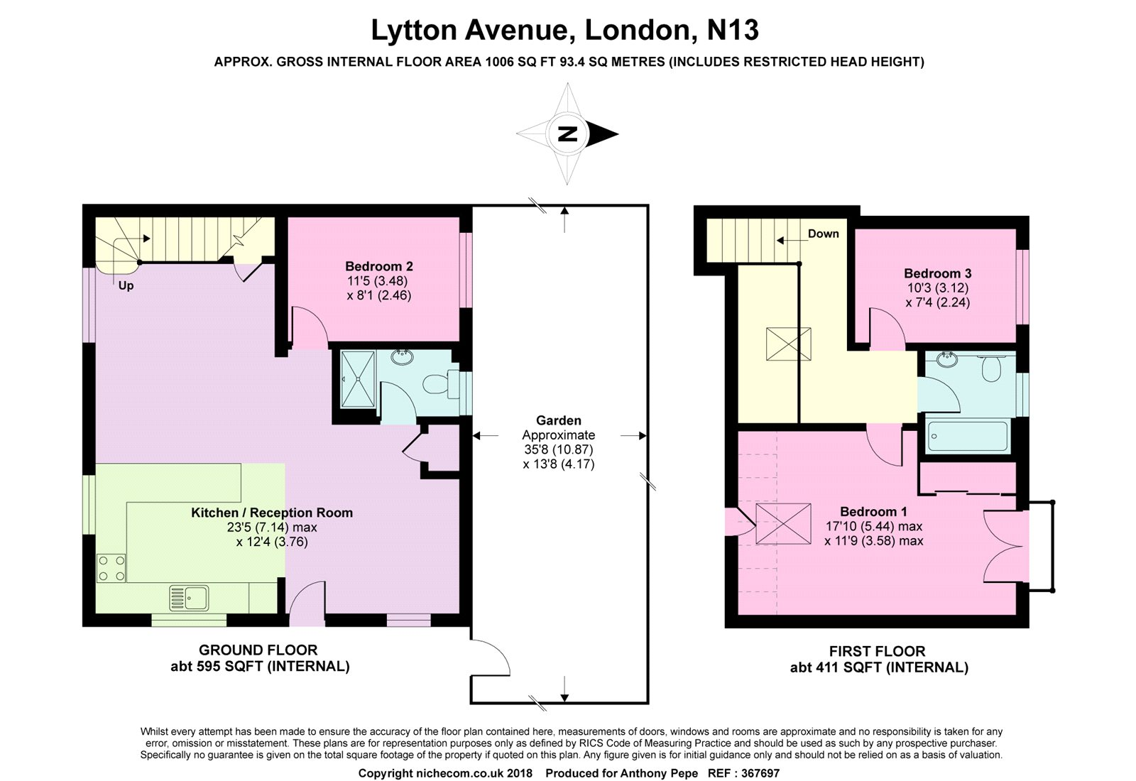 3 Bedrooms Bungalow for sale in Lytton Avenue, Palmers Green, London N13