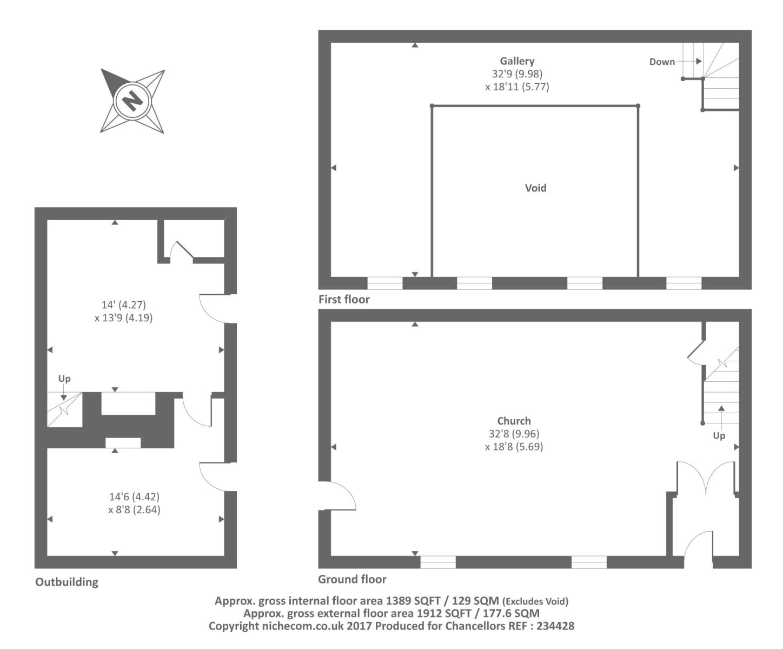 Penuel chapel cwmrhos cwmdu np8 property for sale for Small chapel floor plans