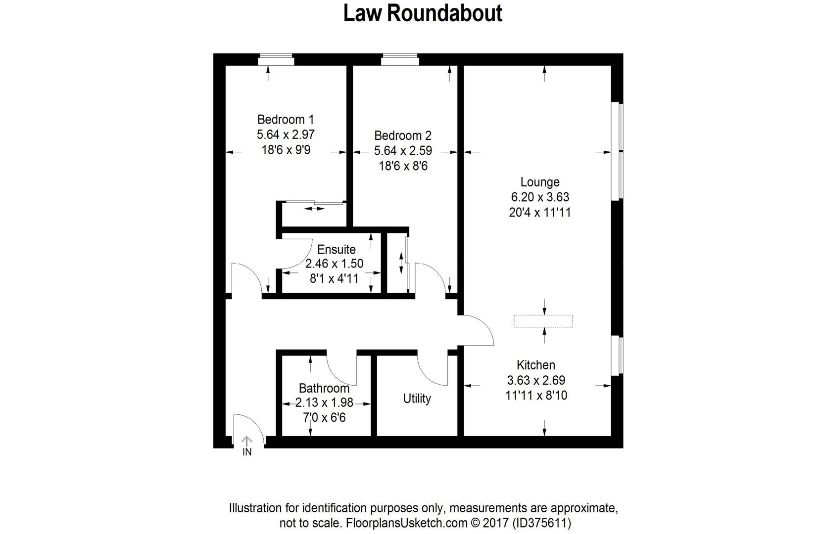 2 bed flat for sale in law roundabout east kilbride for Beds east kilbride