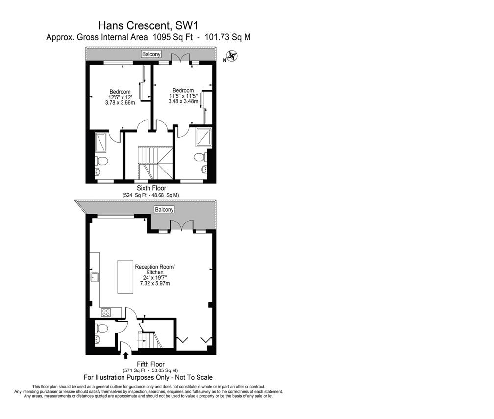 Hans crescent london sw1x 2 bedroom duplex to rent for Up down duplex floor plans