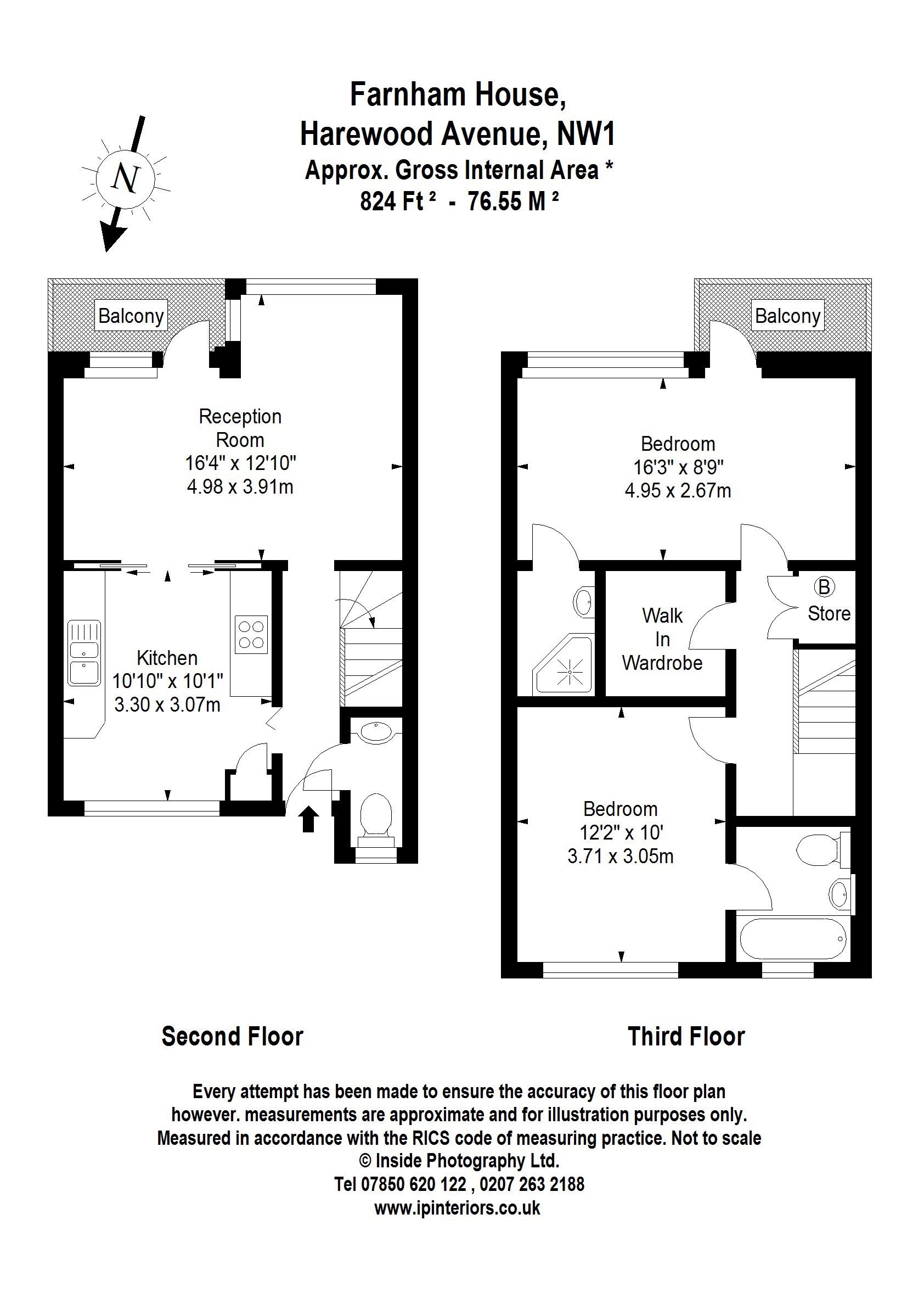 Farnham House Harewood Avenue London NW1 2 bedroom maisonette for – Harewood House Floor Plan