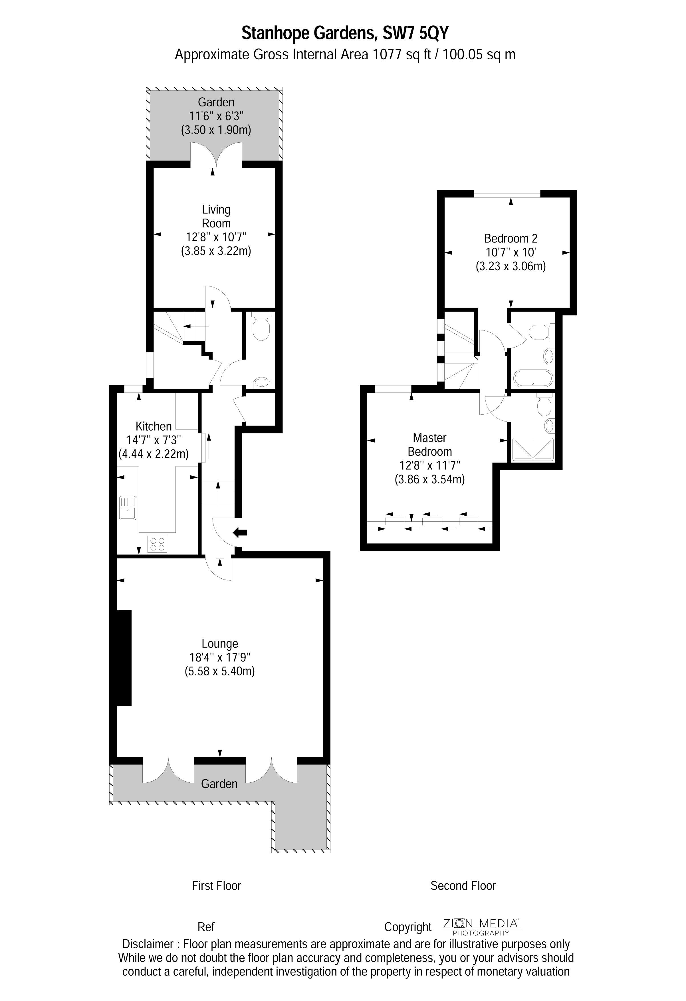 1 Bedrooms Maisonette to rent in Stanhope Gardnes, London SW7