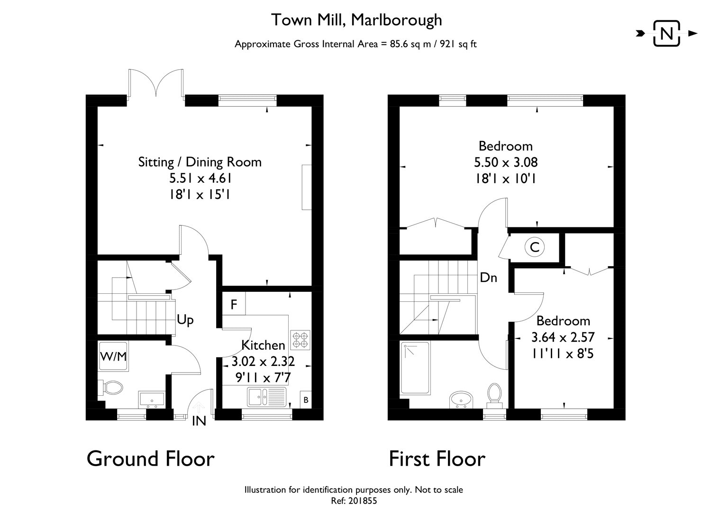 Town Mill Marlborough Wiltshire SN8 2 bedroom terraced house for – Marlborough House Floor Plan