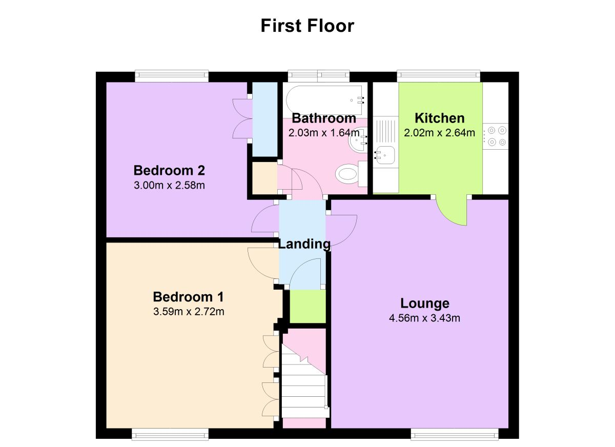 2 bed flat for sale in arcadia ouston chester le street