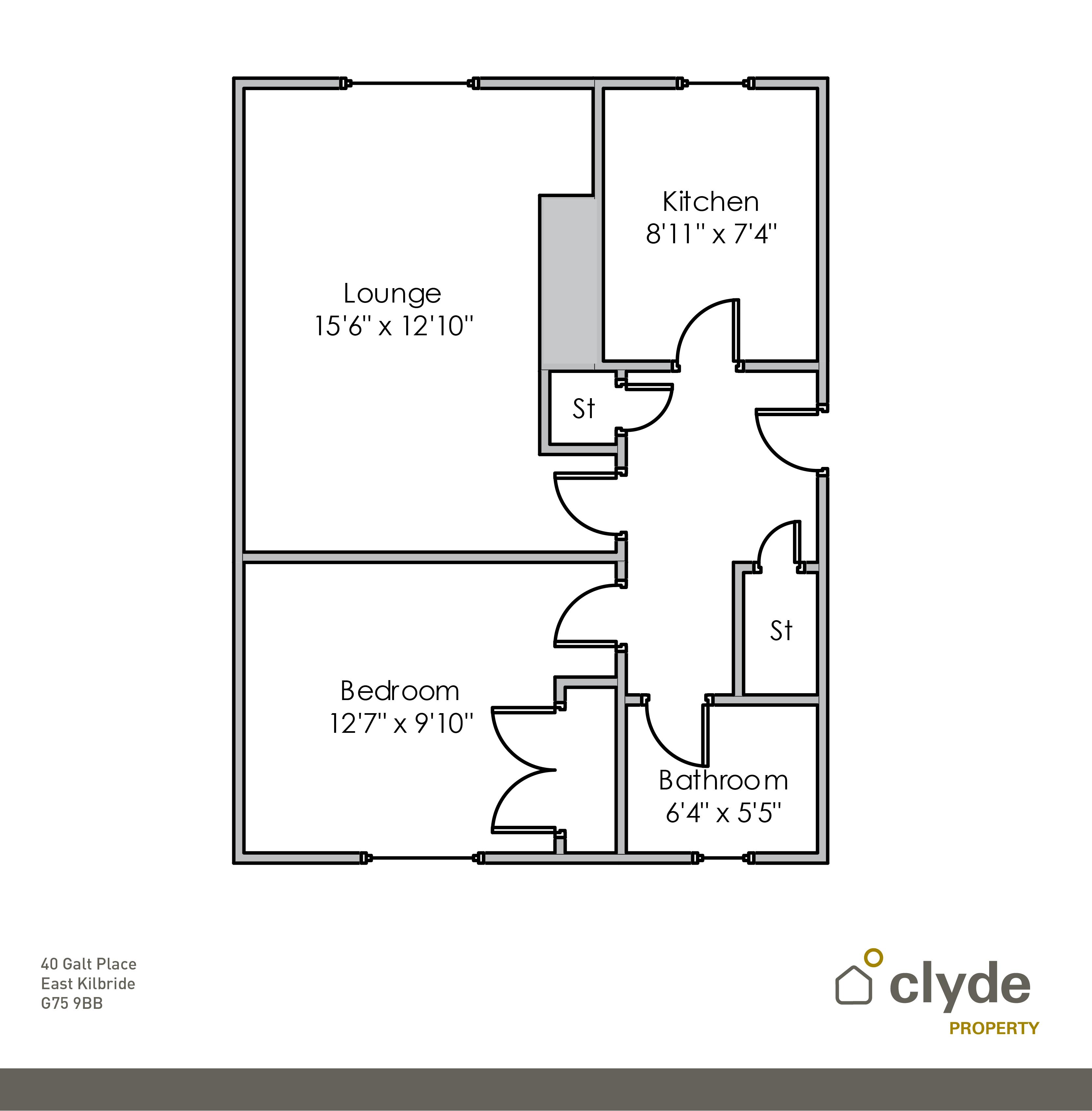Galt Place, East Kilbride, Glasgow G75, 1 Bedroom Flat For