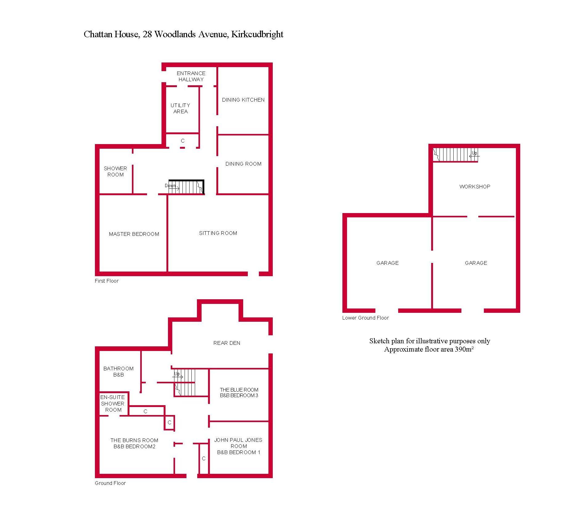 Woodlands Avenue Kirkcudbright Dg6 4 Bedroom Detached