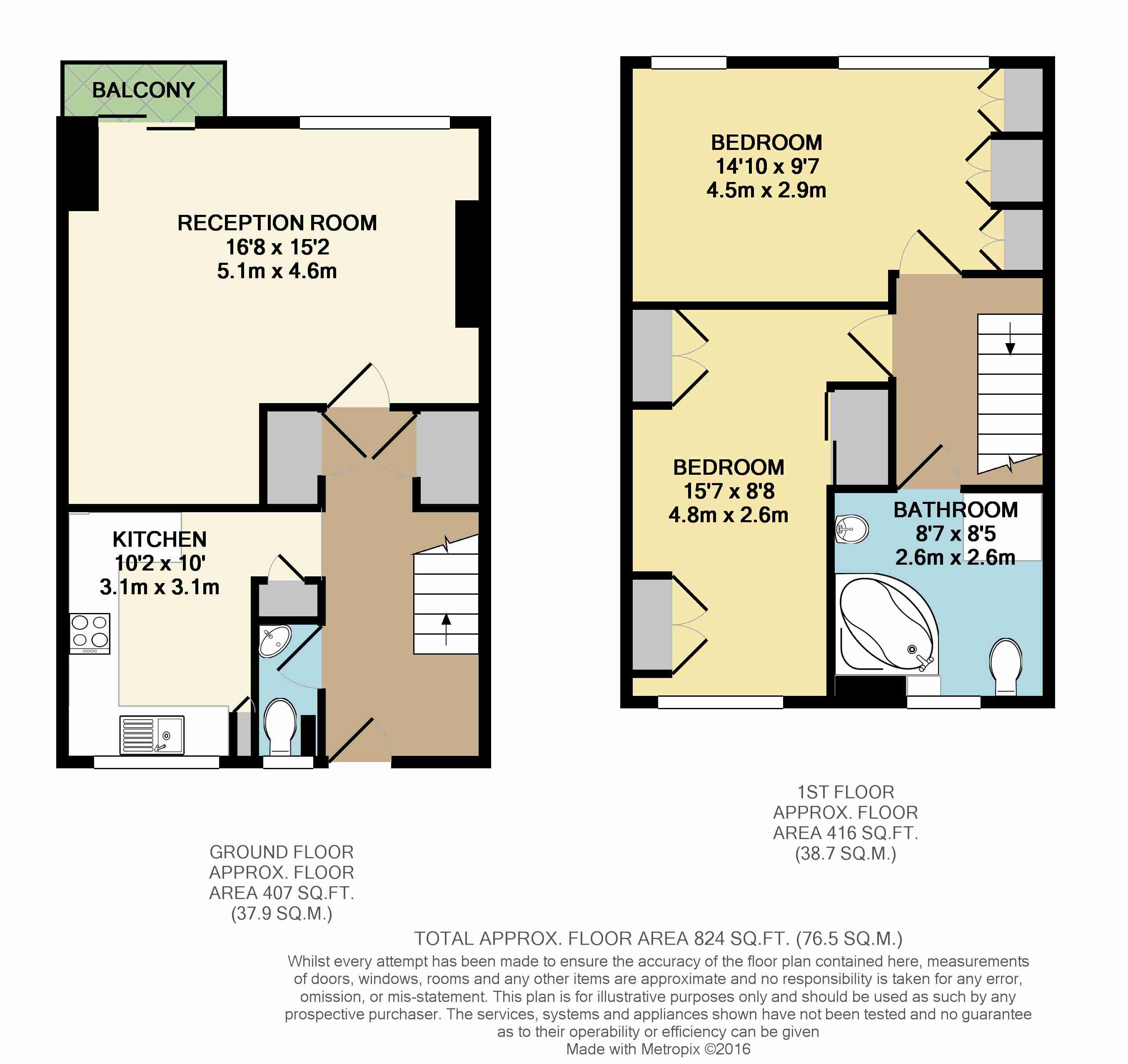 2 bedroom maisonette for sale 41702335 primelocation for Maisonette plans