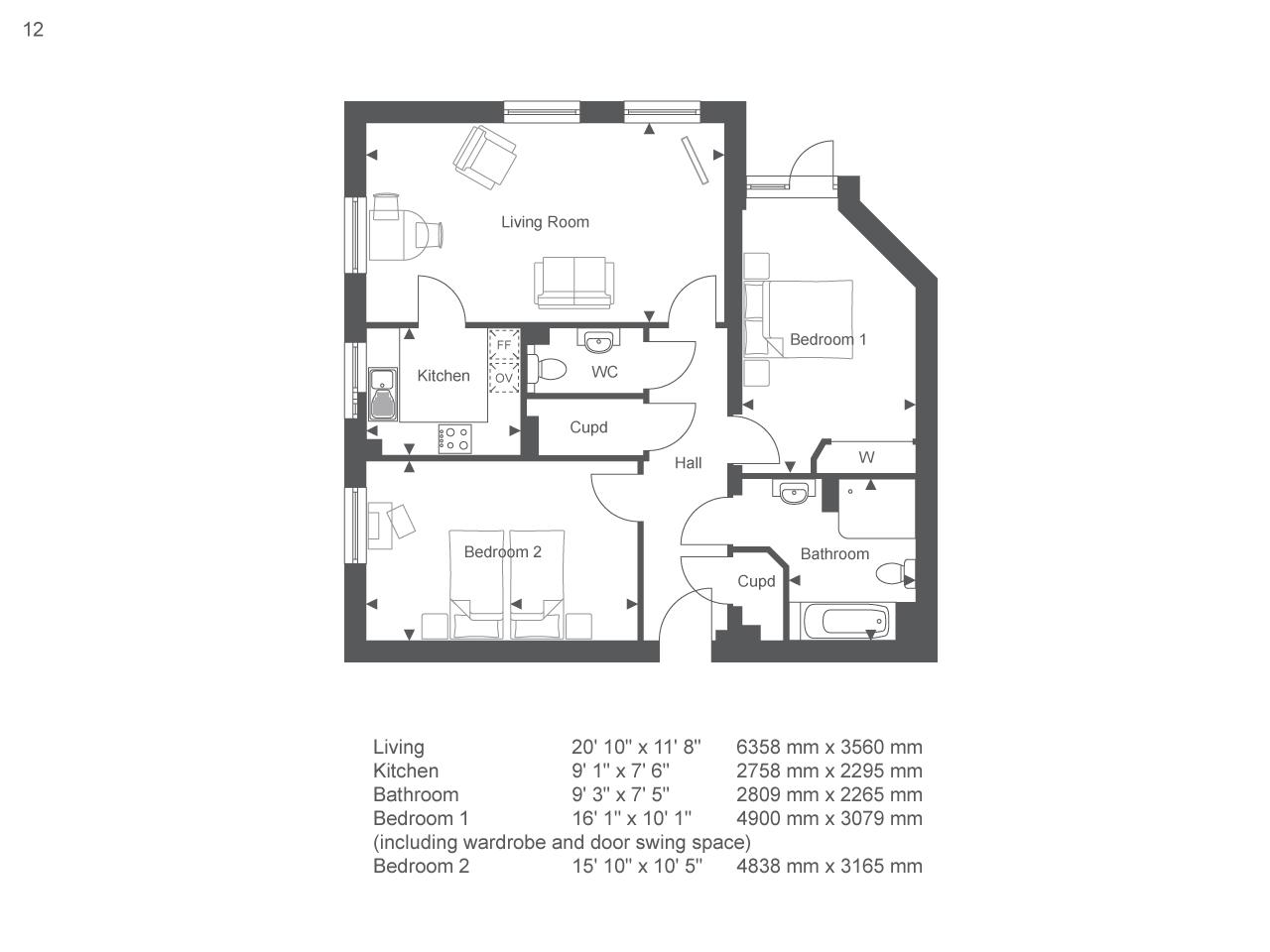 163 209 950 2 Bedroom Flat For Sale In Little Glen Road