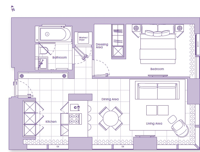The Heron, London EC2Y, 1 Bedroom Flat To Rent