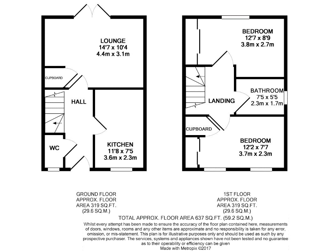 2 Bed Semi Detached House For Sale In The Crescent West