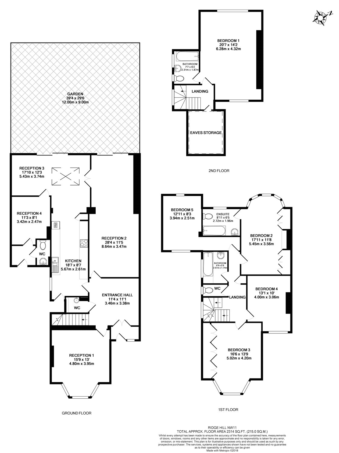 5 Bedrooms Semi-detached house for sale in Ridge Hill, London NW11