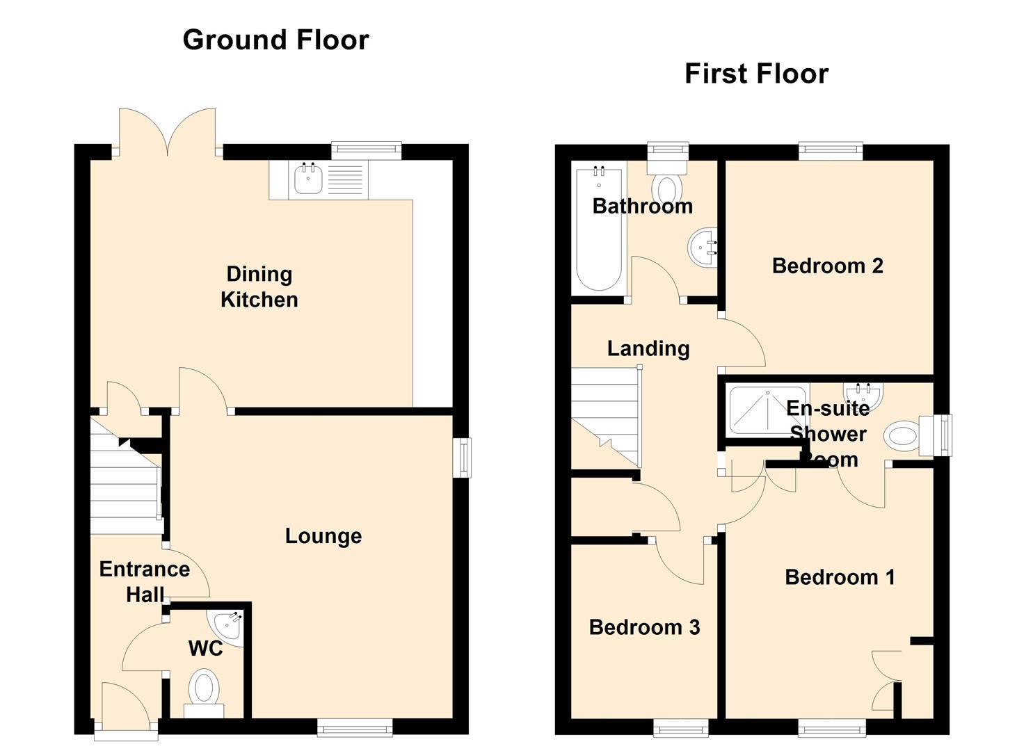 Holland crescent ashby de la zouch le65 3 bedroom semi for 1077 marinaside crescent floor plan