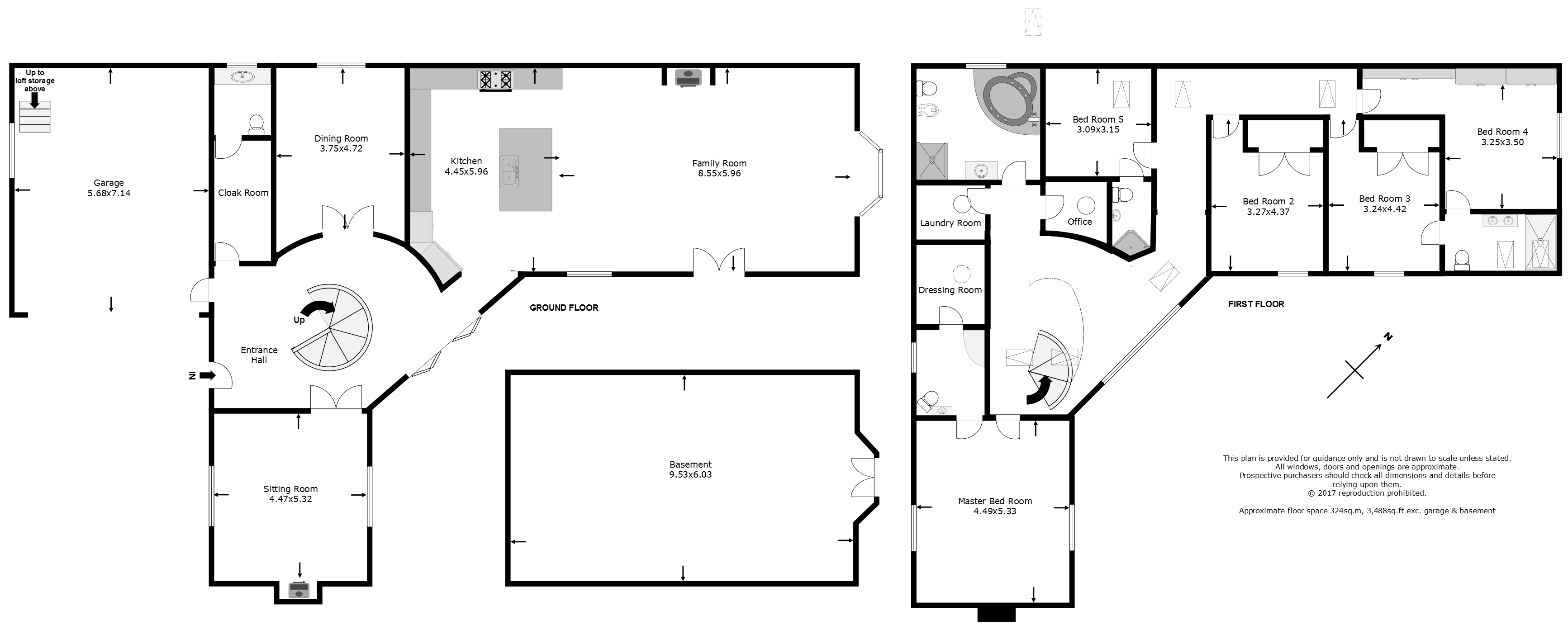 Eight bedroom main manor and a separate four bedroom gatehouse - Floorplan View Original