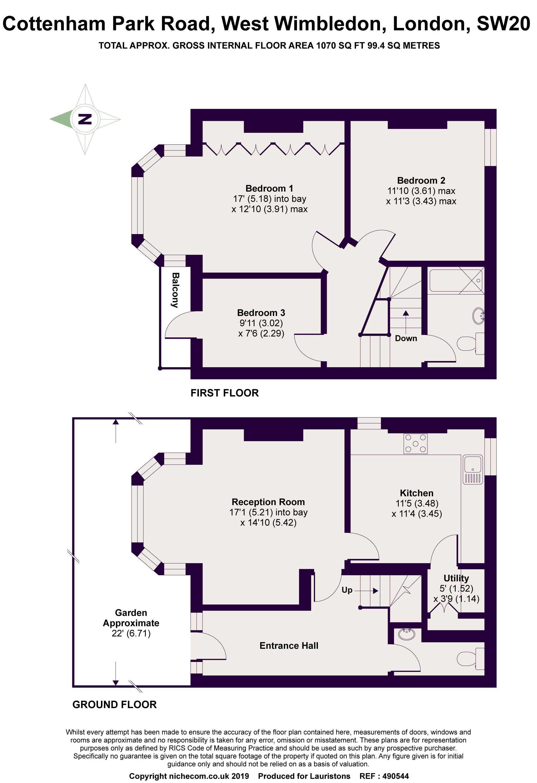 3 Bedrooms  for sale in Cottenham Park Road, West Wimbledon SW20