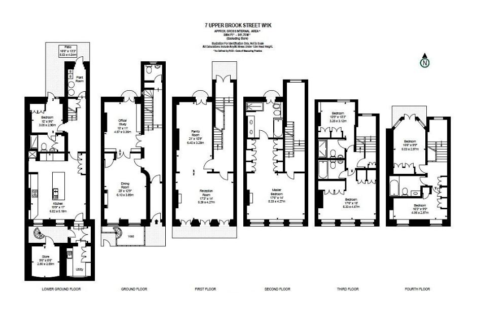 Upper Brook Street London W1k 6 Bedroom Property To Rent