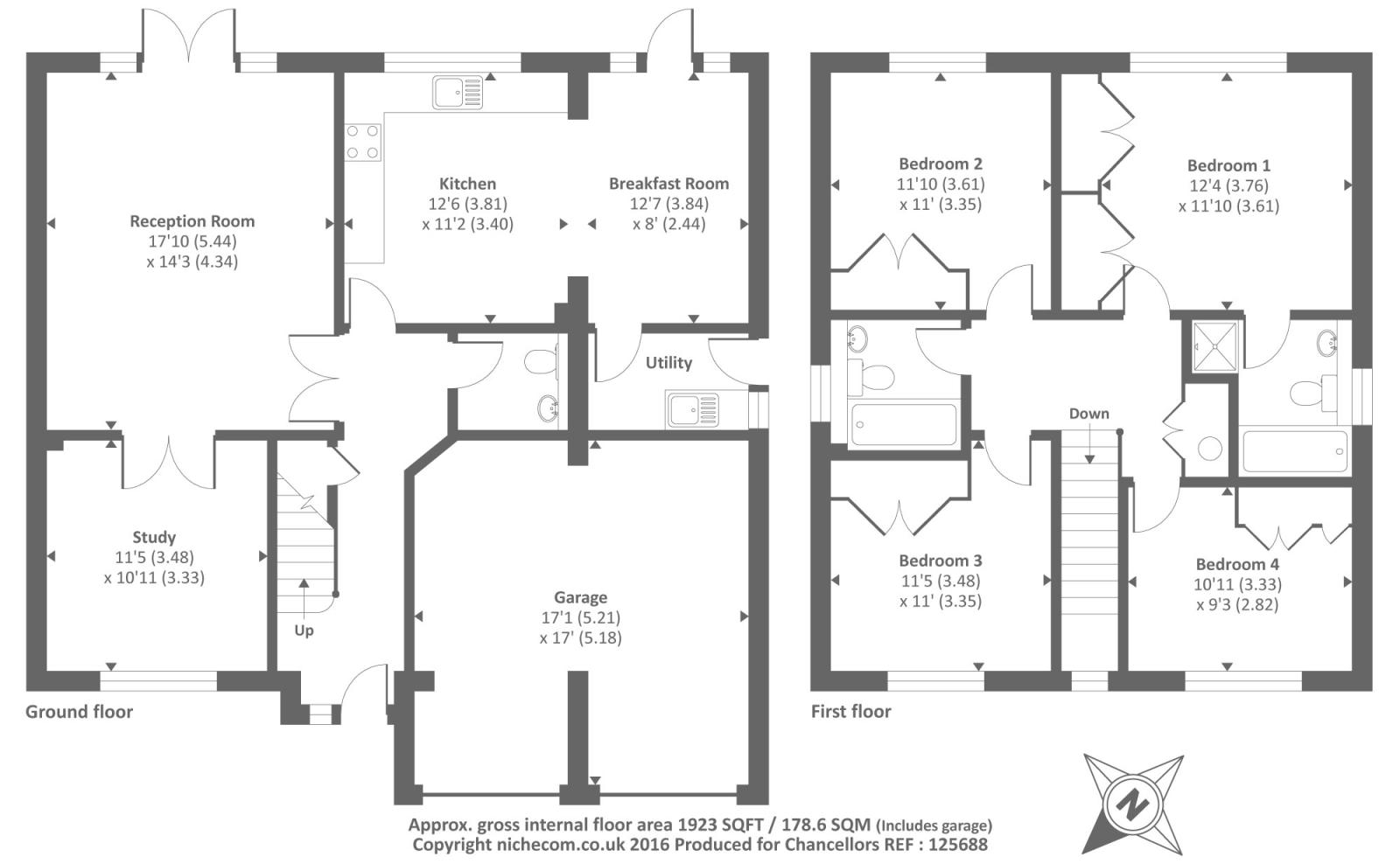 Virginia water surrey gu25 4 bedroom detached house for for Ron lee homes floor plans