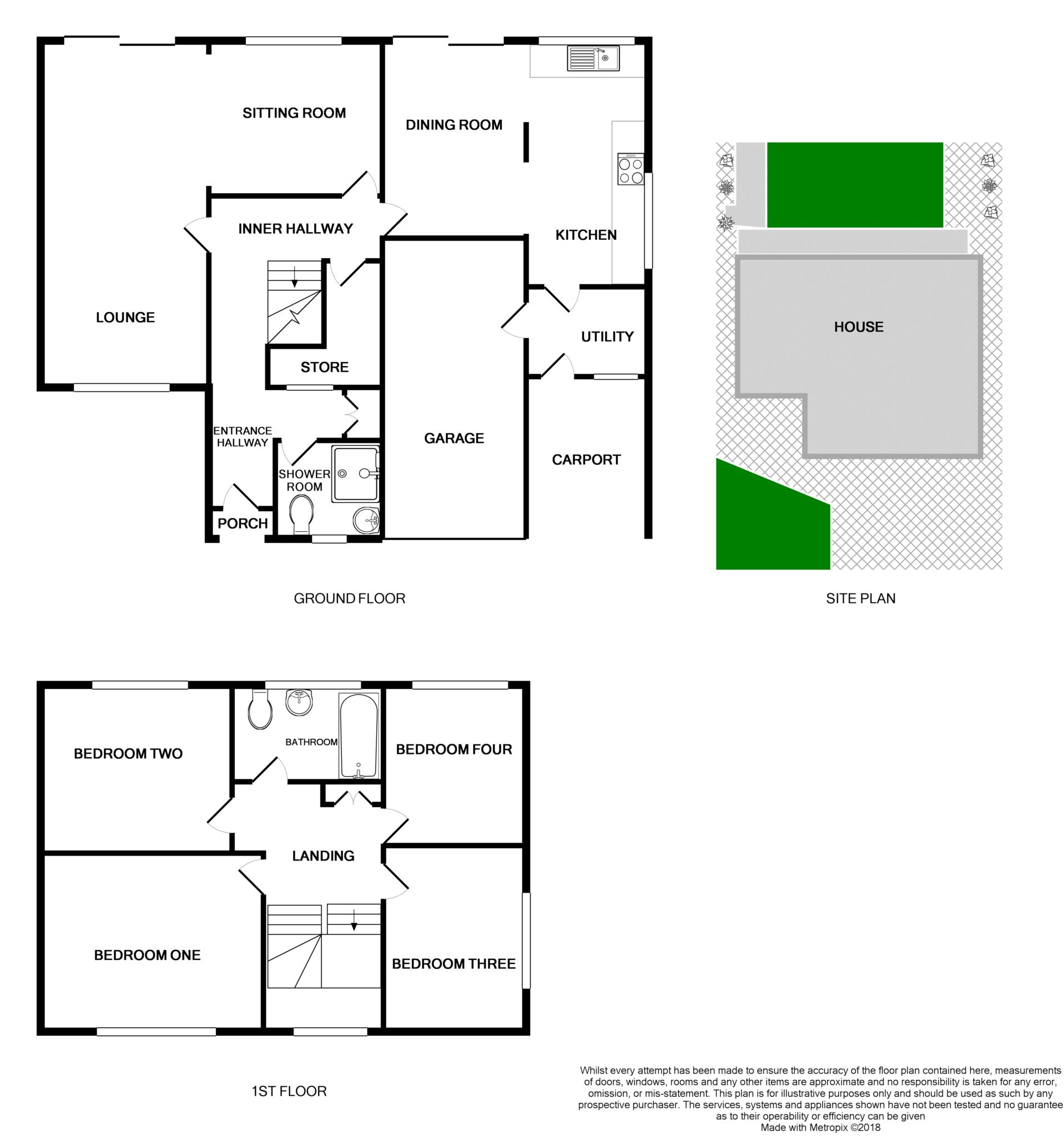 4 Bed Detached House For Sale In Cunningham Drive Bromborough Average Cost Of Rewiring A Floorplan 1